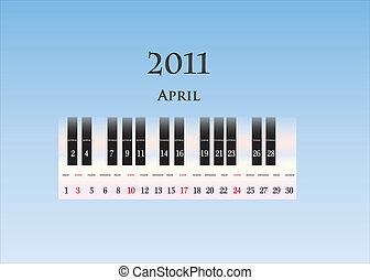 april 2011 ( piano keys )