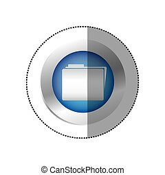 blue symbol file icon