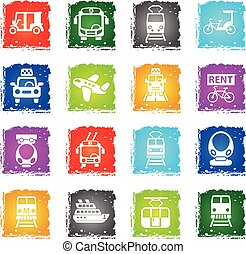 public transport icon set - public transport web icons in...