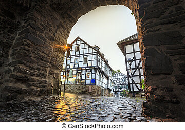 Traditional prussian wall in architecture in Germany -...