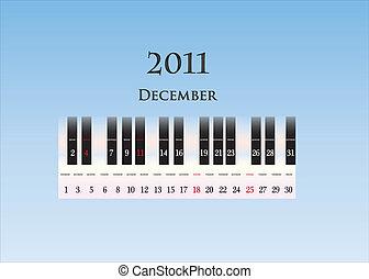 december 2011 ( piano keys )