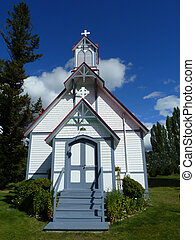 Country Church - A country church in a serene setting in...