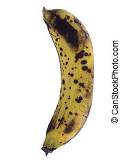 Over-Ripe Bananas Isolated - Isolated macro image of...