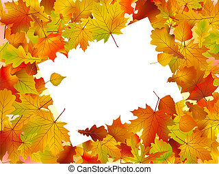 Autumn frame turned at an angle