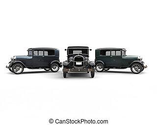 Beautiful 1920s vintage cars - studio shot