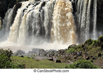 The Nile waterfall Tisissat in Ethiopia