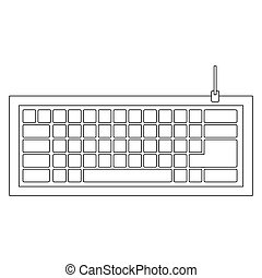 figure computer keyboard icon