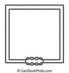 Blank poster template with nautical border. Wedding...