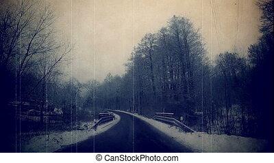Winter road Czech Republic. - Winter road in the Czech...