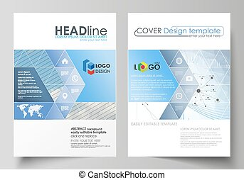Business templates for brochure, flyer, annual report. Cover...