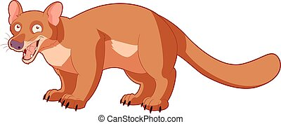 Cartoon smiling fossa - Vector image of the Cartoon smiling...