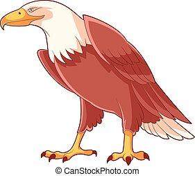 Cartoon Smiling Eagle