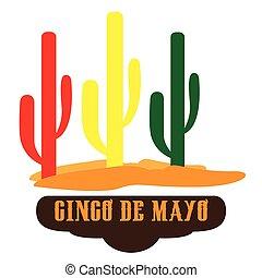 Cinco de mayo - Isoated group of cactus, Cinco de mayo...
