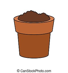 dirt or soil in pot icon image vector illustration design