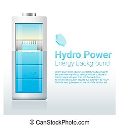 Green energy concept background with hydro energy charging...