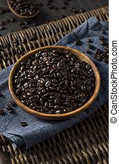 marrón, café, orgánico, frijoles, asado