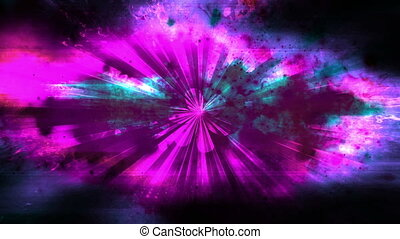 VJ abstract lightness and dark flower looping background -...