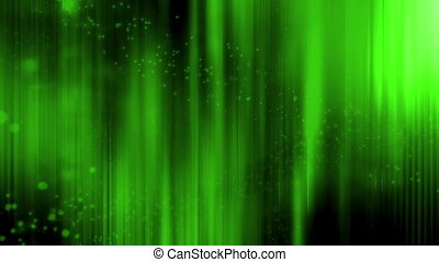 Green streaks and particles CG looping animated background -...