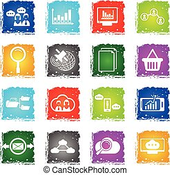 data analytic icon set - data analytic vector web icons in...