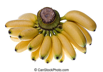 Yellow Bananas Isolated - Isolated macro image of yellow...