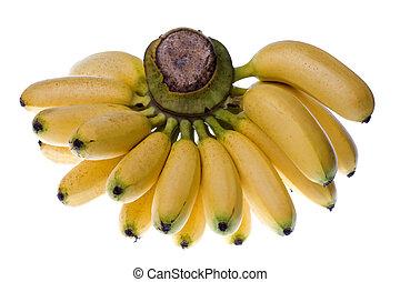 Yellow Bananas Isolated - Isolated macro image of yellow...