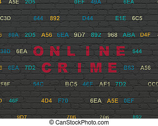 Privacy concept: Online Crime on wall background - Privacy...