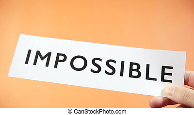 POSSIBLE motivational word business success attitude think positive