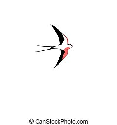 Symbol of a swallow flying