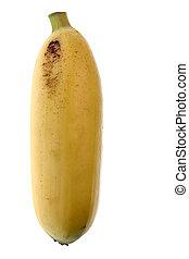 Yellow Banana Isolated - Isolated macro image of a yellow...