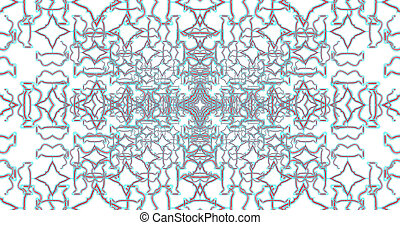 Abstract interwoven ornate geometric luxury pattern....