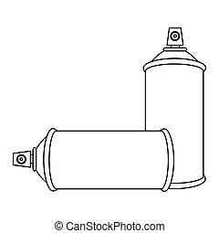 contour set aerosol spray bottle icon flat