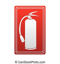 red color signal silhouette fire extinguisher icon