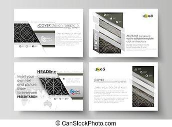 Set of business templates for presentation slides. Easy...