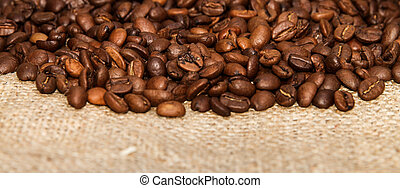 Roasted Coffee Beans - Arabic Roasted Coffee Beans on Sack...