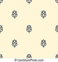 Hop beer seamless pattern background vintage set