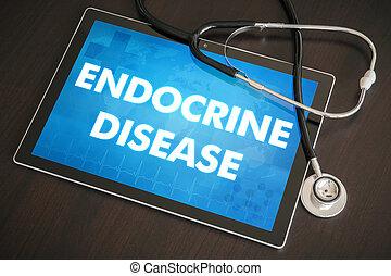 concept, tablette, endocrine, Monde Médical, maladie,...