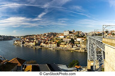 Bridge of Louis I, Porto - View of the bridge of Louis I in...