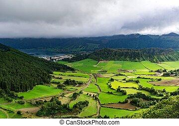 Caldera Seven Cities - Caldera Sete Cidades on the island...