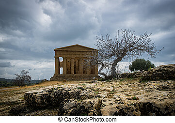 Temple of Concord, Agrigento - Temple of concord site in the...