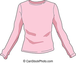 blouse - The pink blouse with long sleeves. A cardigan.