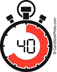 forty minute stop watch countdown