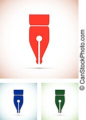 colourful pen tip silhouettes