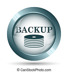 Back-up icon. Internet button on white background.