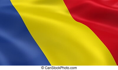 Romanian flag in the wind. Part of a series.