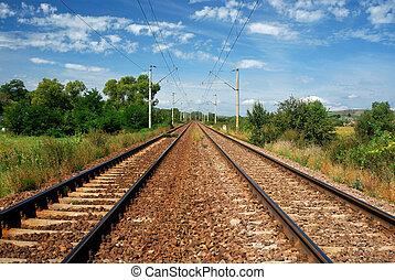 Electrified railway in Romania