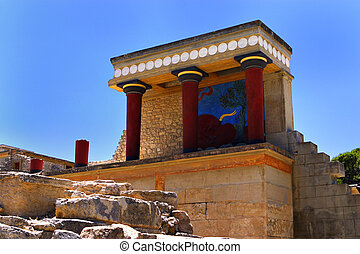 Knossos North Entrance - The North Entrance to the Minoan...