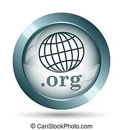 .org icon. Internet button on white background.
