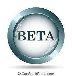 Beta icon. Internet button on white background.