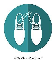 april fool shoelaces tied image shadow - april fool...