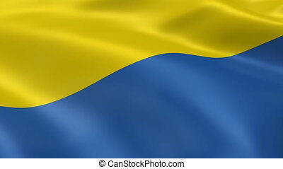 Ukrainian flag in the wind. Part of a series.